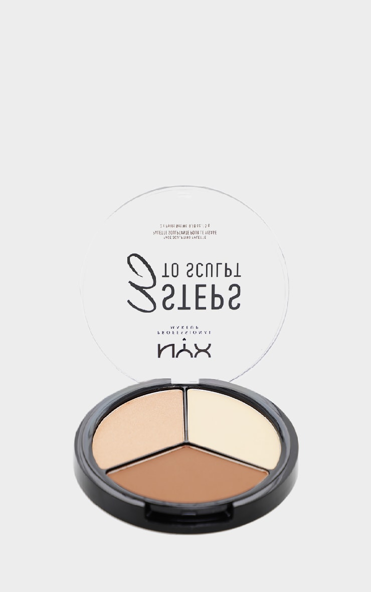 NYX PMU 3 Steps to Sculpt Face Sculpting Palette Light 2