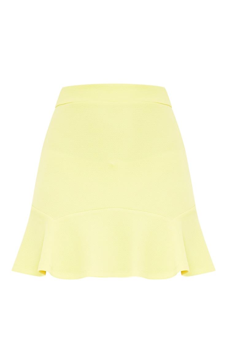 Verity Lemon Textured Flippy Hem Mini Skirt 3