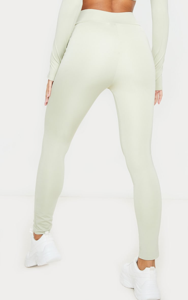 Sage Green V Front Gym Leggings 3