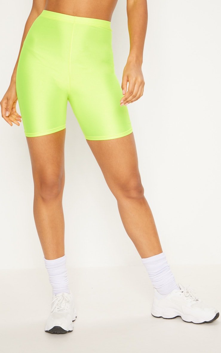 Yellow Neon Bike Shorts 2
