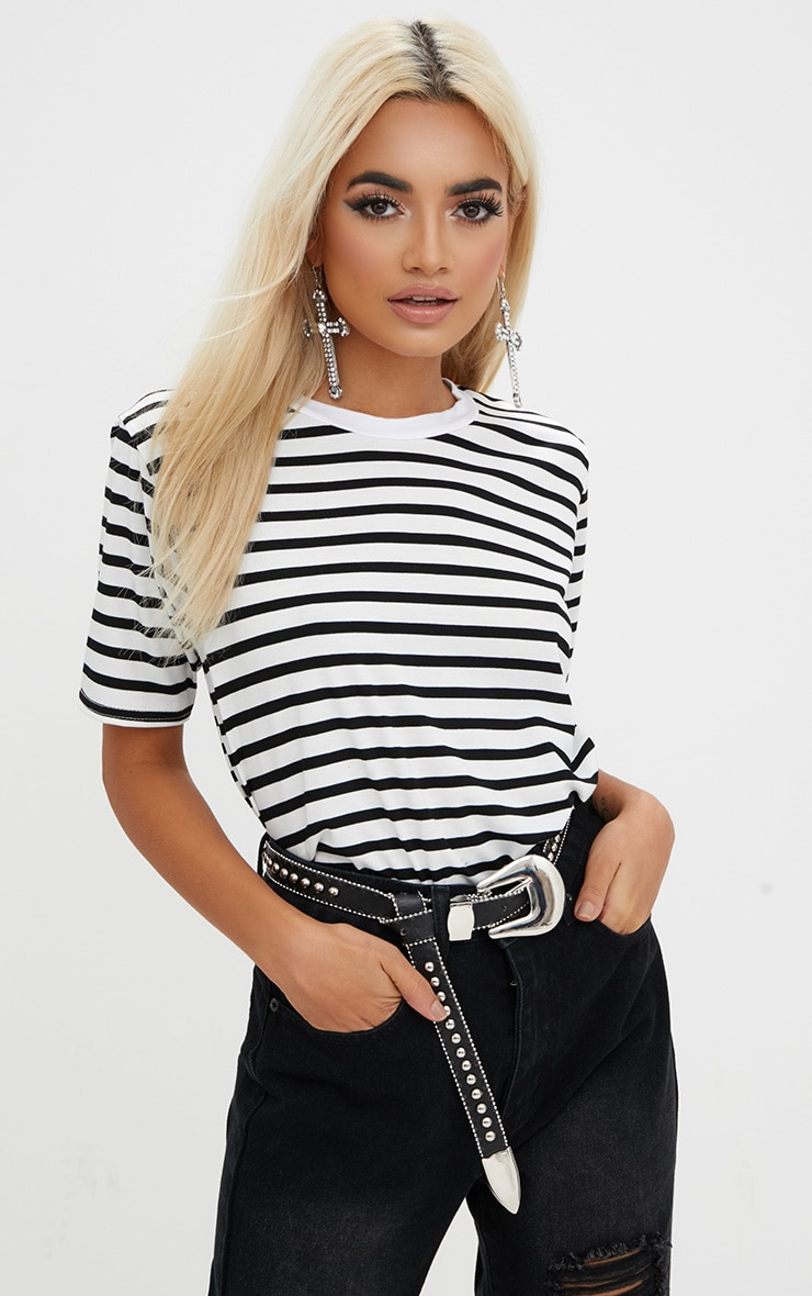 Black Stripe T Shirt  1