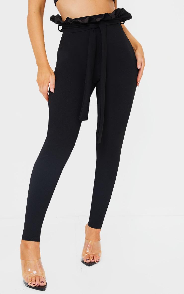 Perlita Black Paperbag Skinny Trousers 2