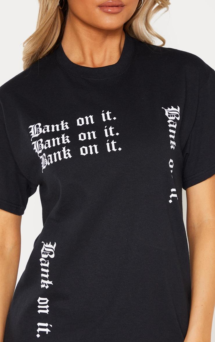 Tall Black Slogan T Shirt 6