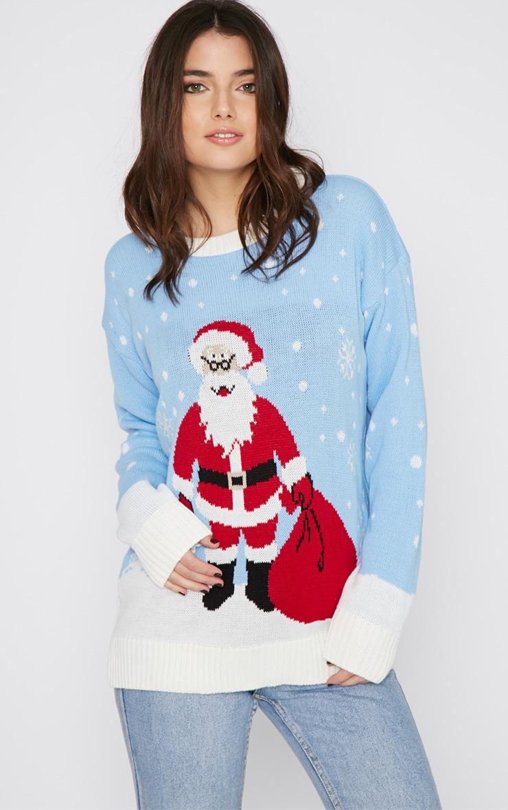 Jessi Blue Santa Jumper  4
