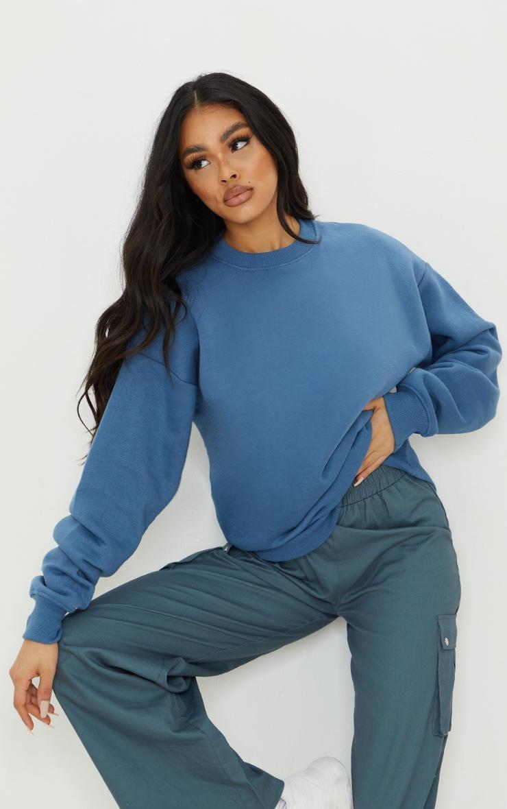 Dusty Blue Ultimate Oversized Sweater 1