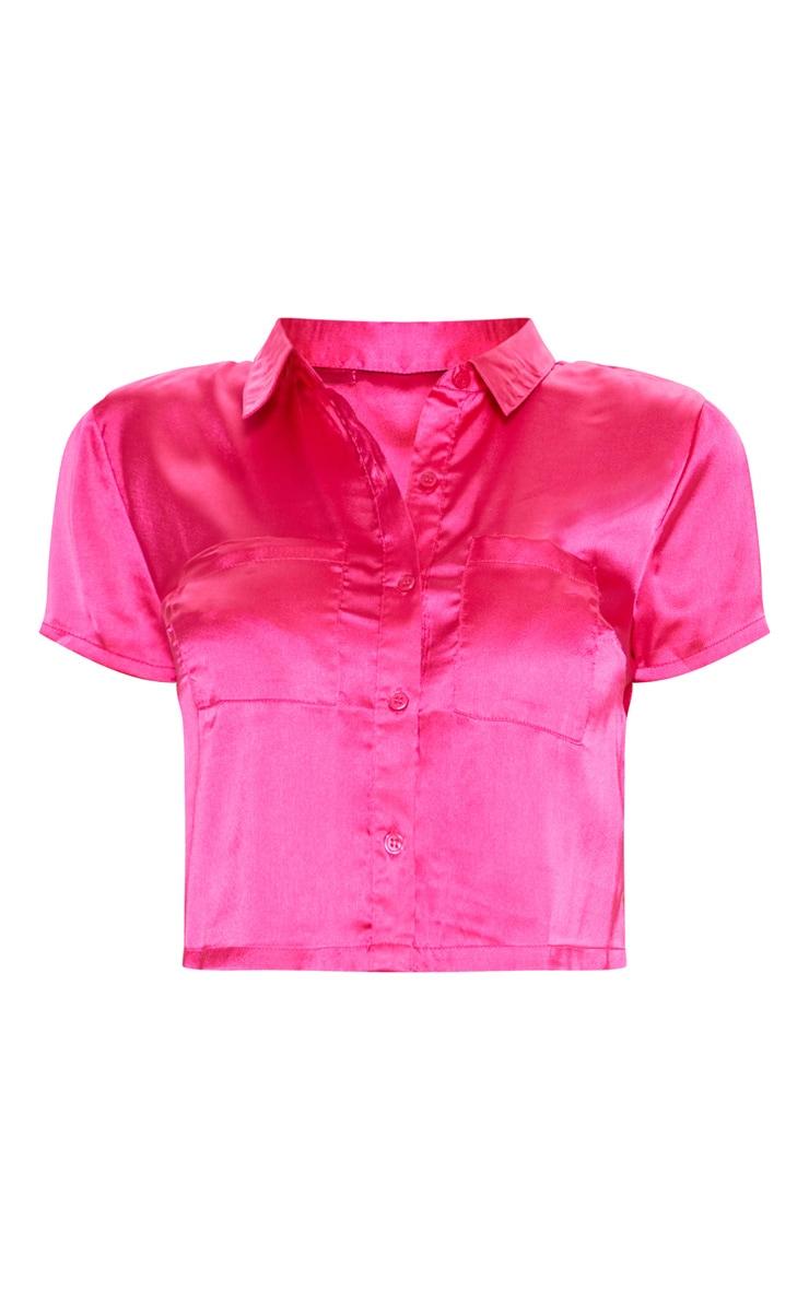 Fuchsia Bow Back Short Pyjama Set  3