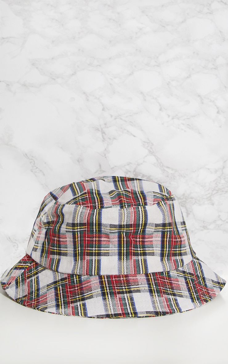 Red Check Bucket Hat 3