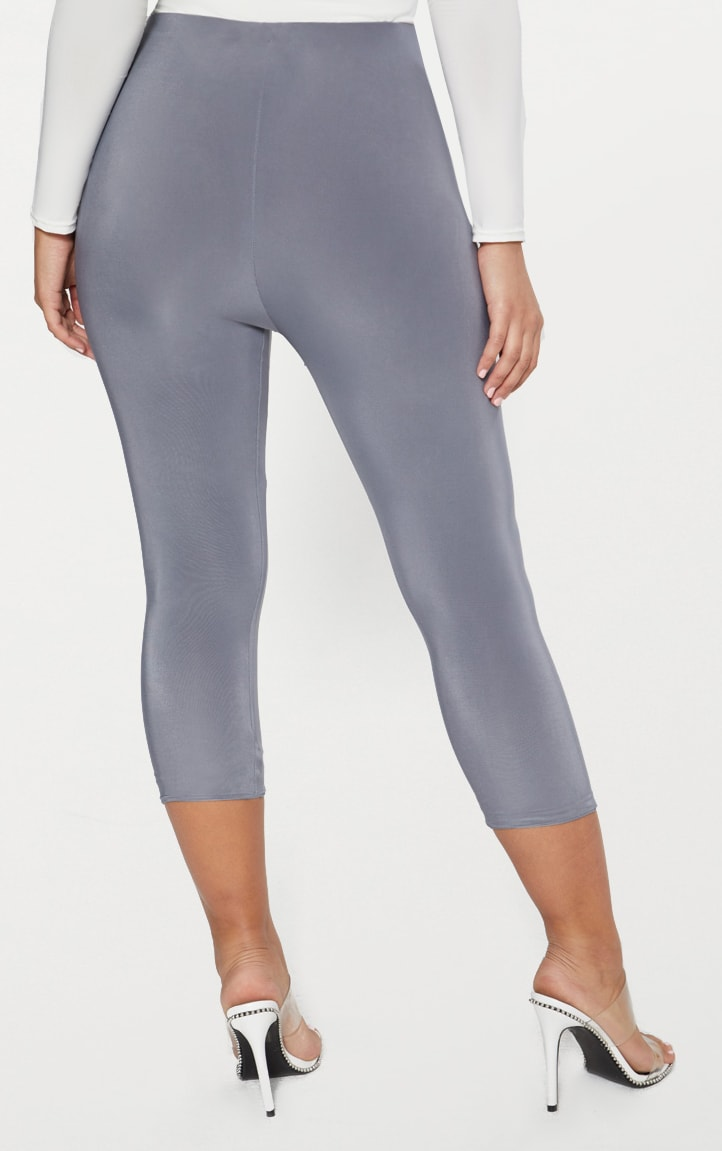Grey Slinky Cropped Legging  4