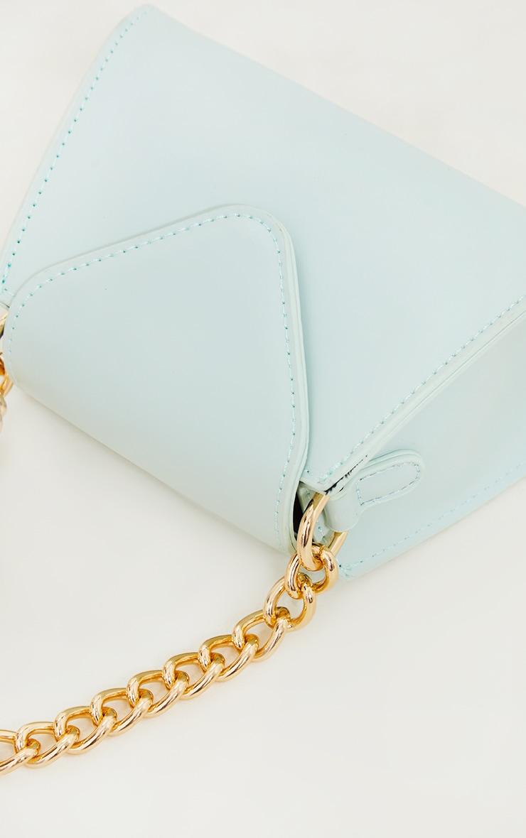 Sage Mini Envelope Gold Chain Grab Bag 4