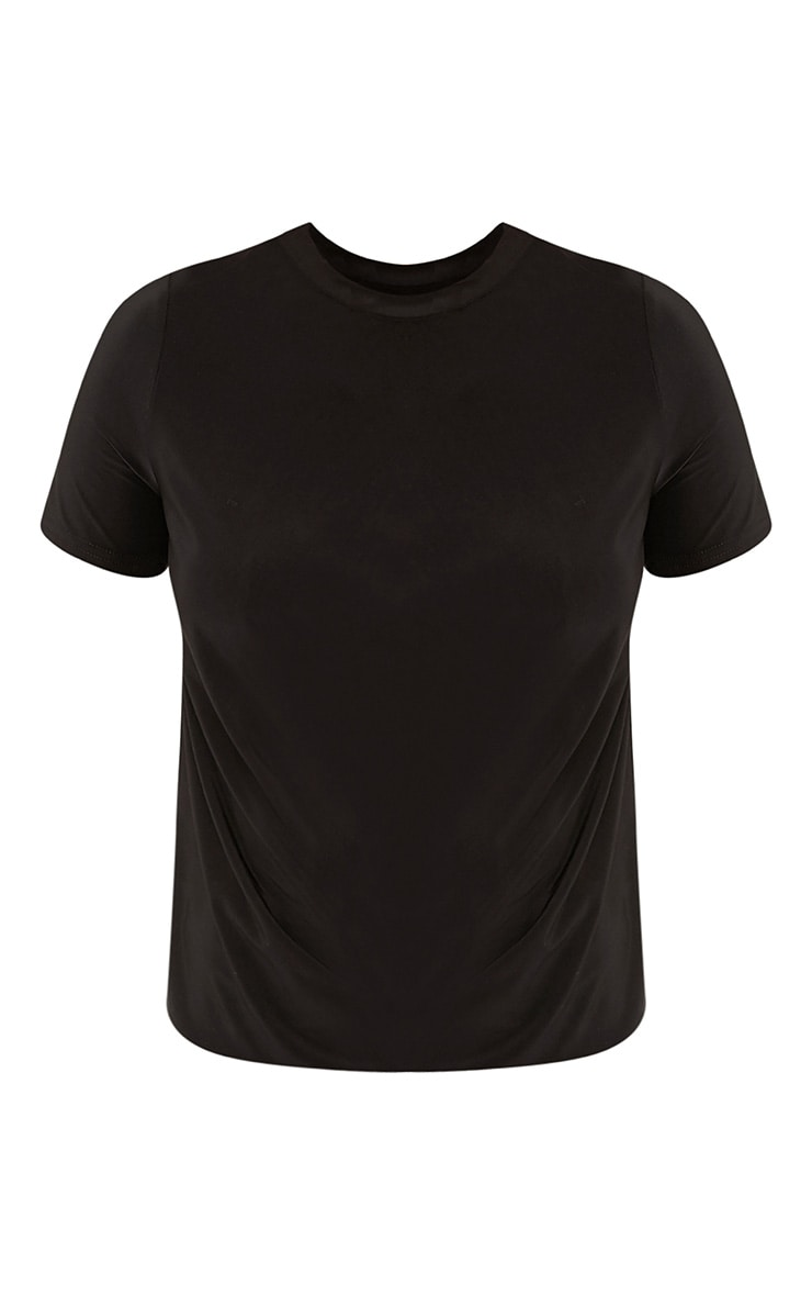 Lorelli Black Slinky Twist Hem T Shirt 3