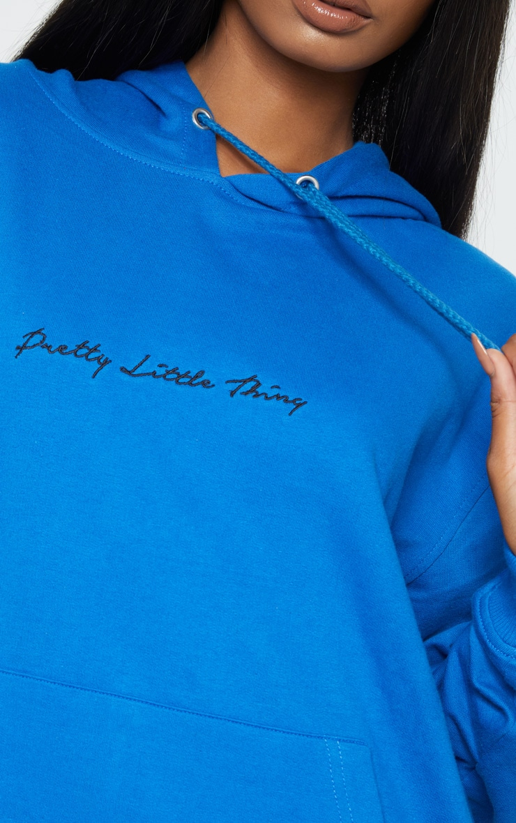 PRETTYLITTLETHING Recycled Cobalt Oversized Sweat Hoodie 4