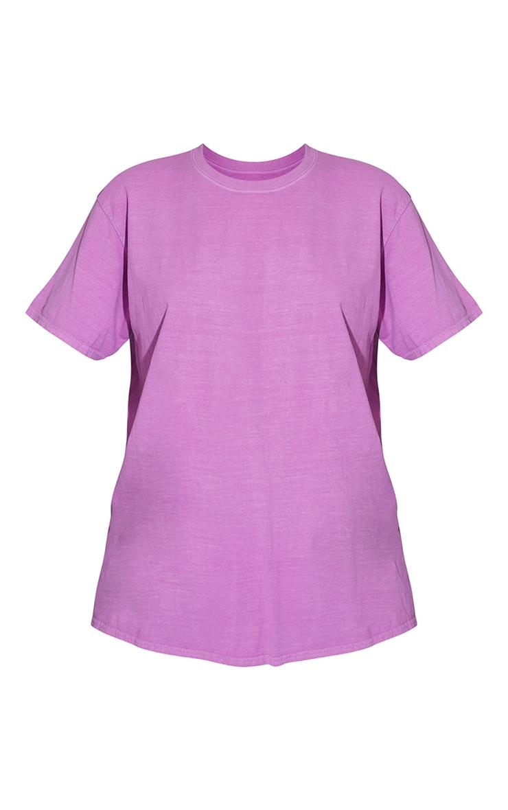 Violet Worldwide Back Print Washed T Shirt 5