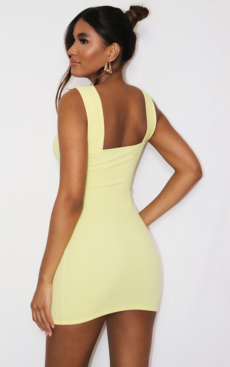 Lemon Bow Detail Cut Out Bodycon Dress 2