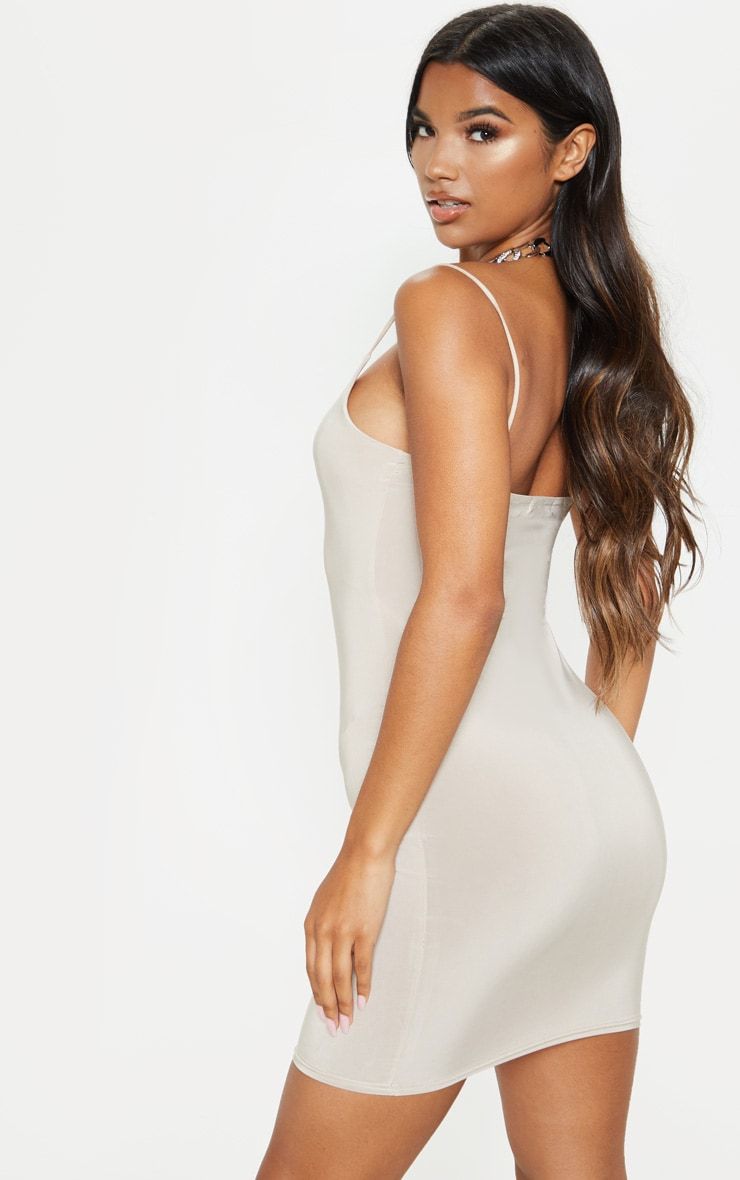Stone Slinky Spaghetti Strap Bodycon Dress 2