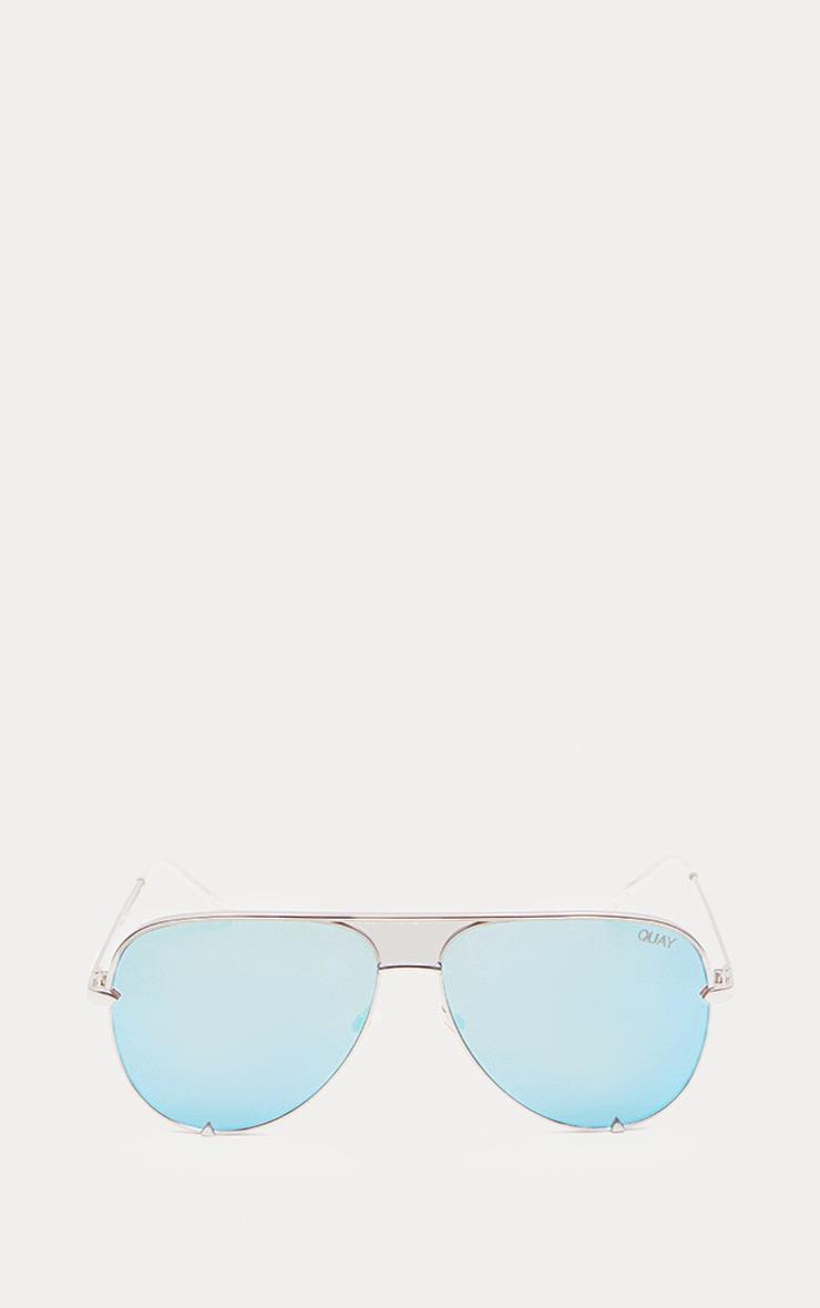 QUAY AUSTRALIA Blue X Desi High Key Aviator Sunglasses 2