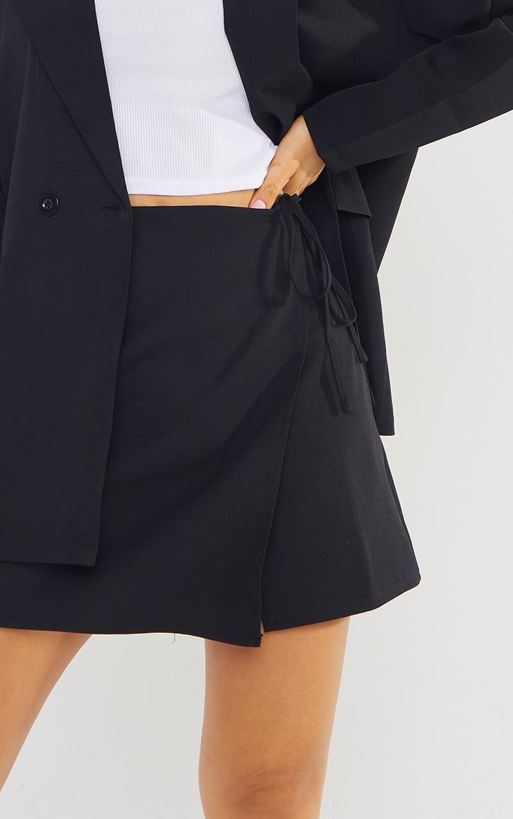 Petite Black Tie Waist Skirt 5