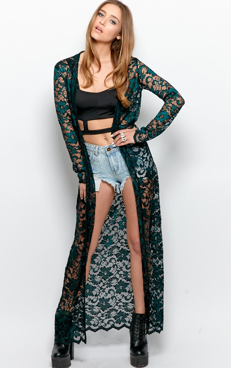 Antonia  Lace Luxe Full Length Kimono 4