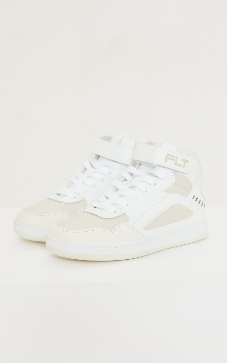 PRETTYLITTLETHING Stone Strap High Top Trainers 4