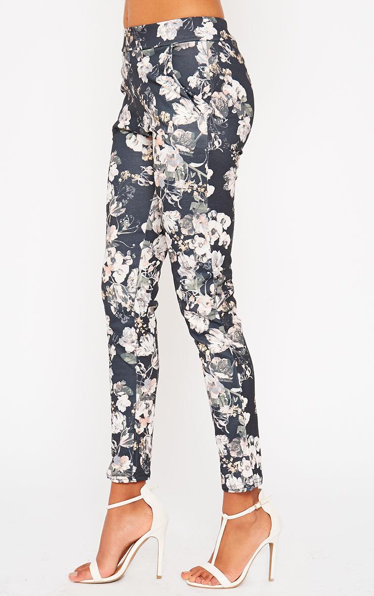 Saba Khaki Floral Trousers 3
