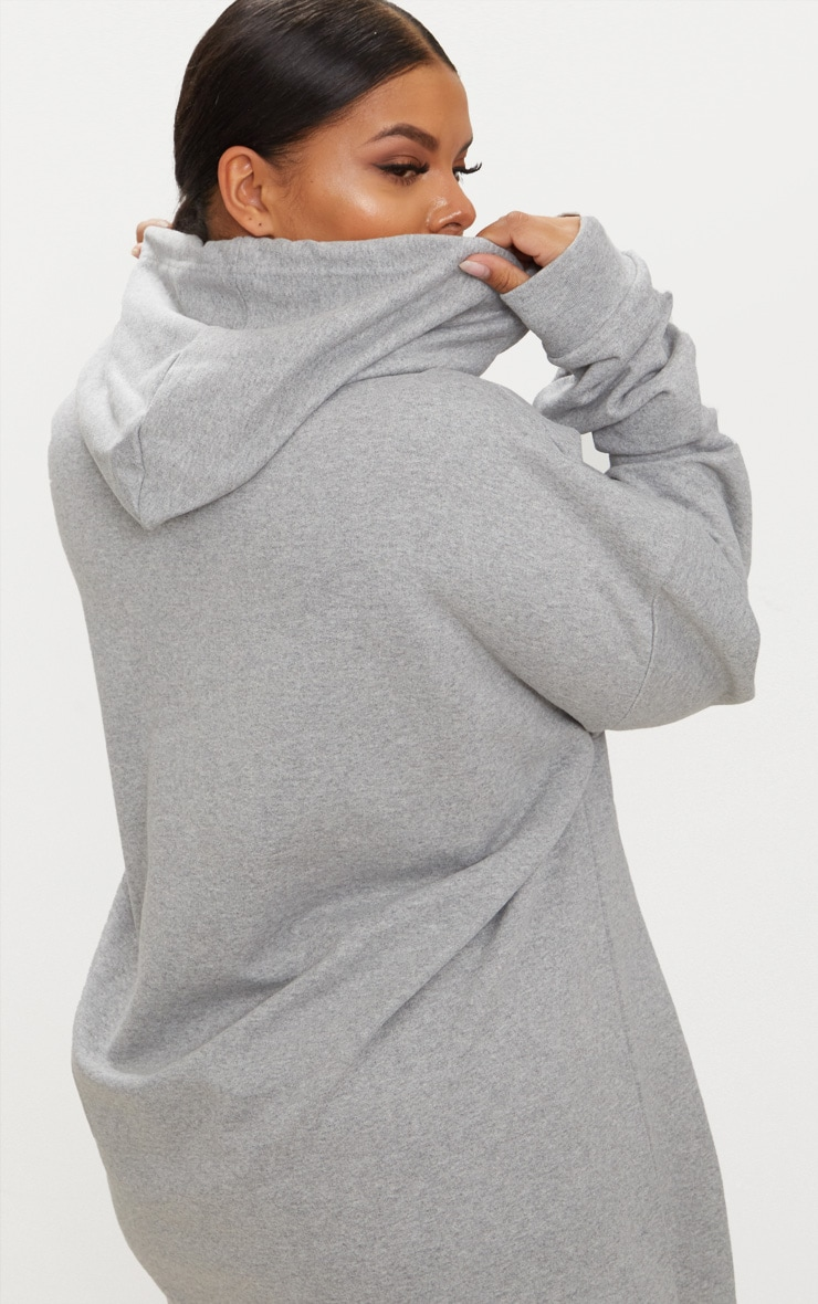 Plus - Hoodie oversized gris chiné 2