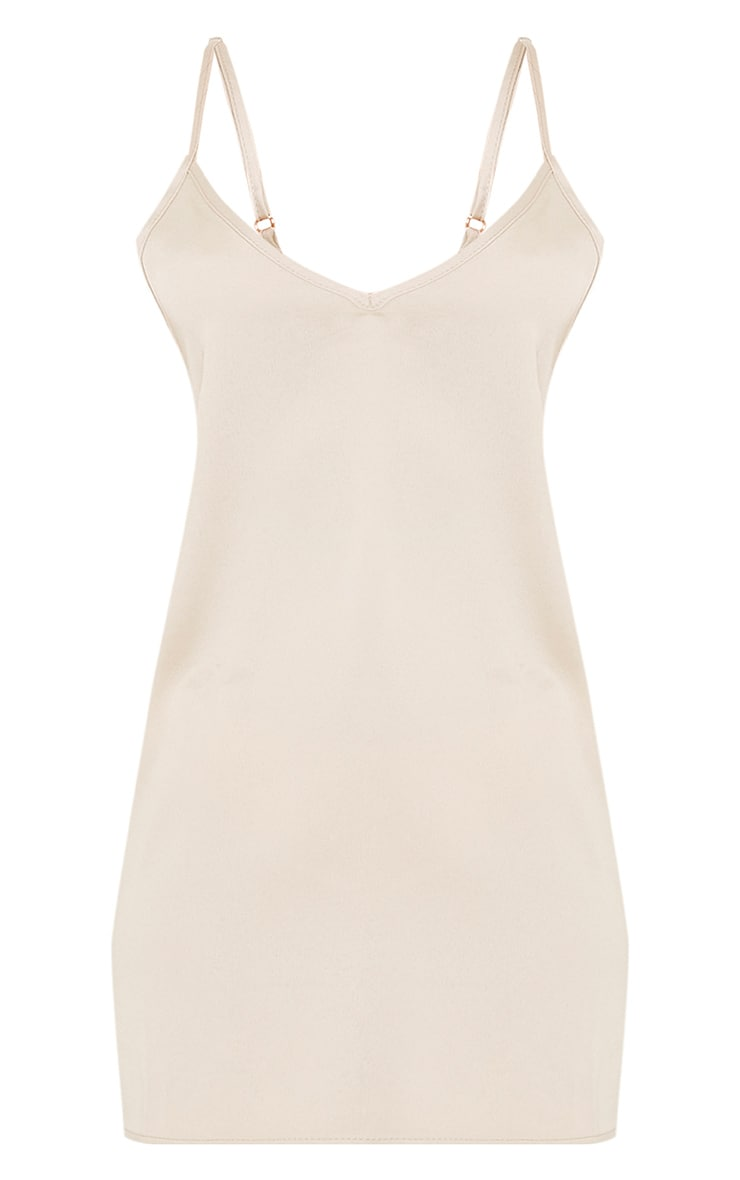 Ameera Champagne Satin Slip Dress 3