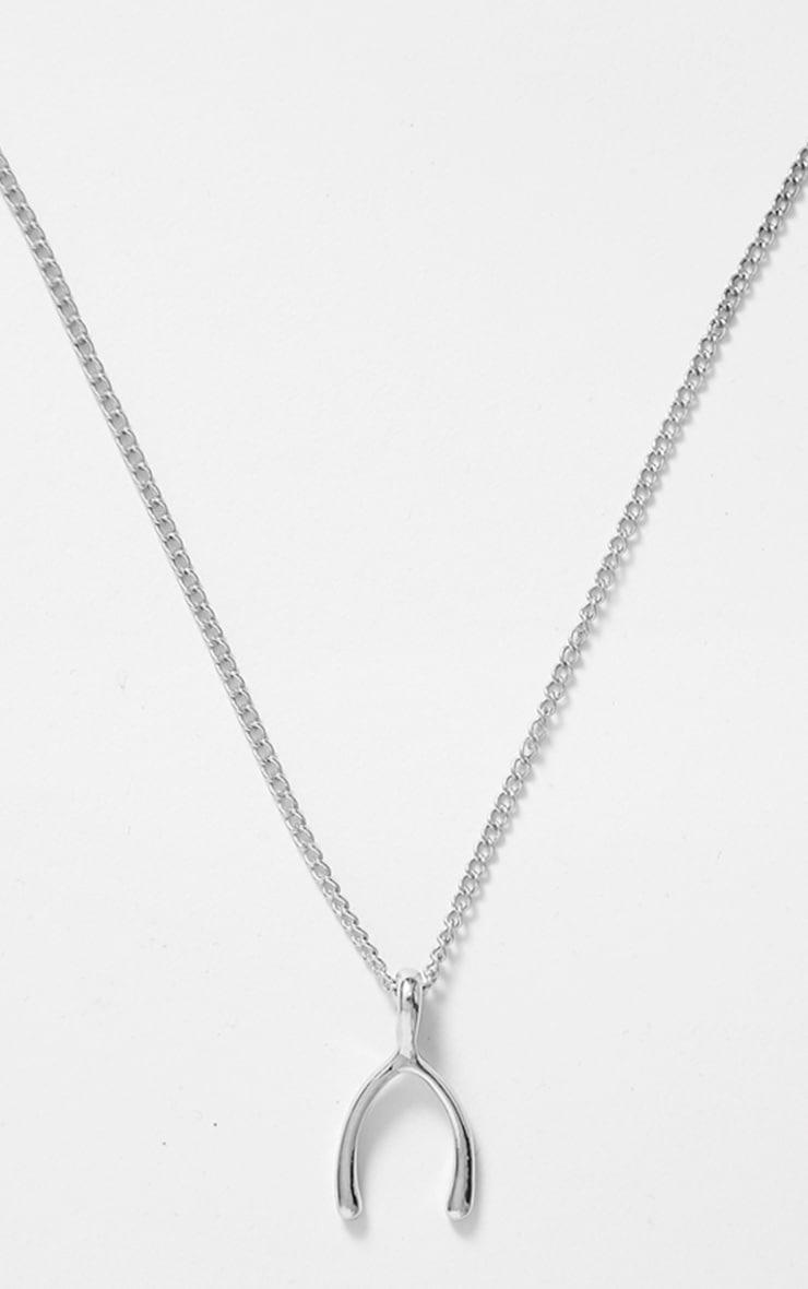 Zakia Silver Wishbone Necklace 3