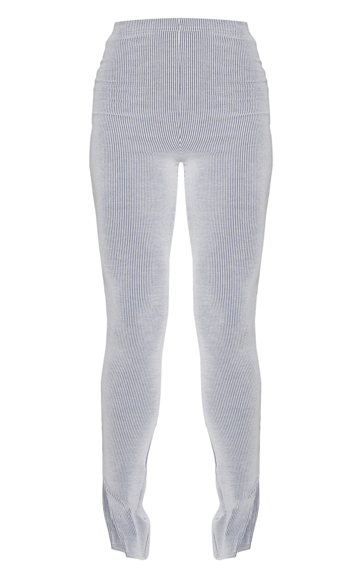 Tall Grey Knitted Split Hem Legging 5