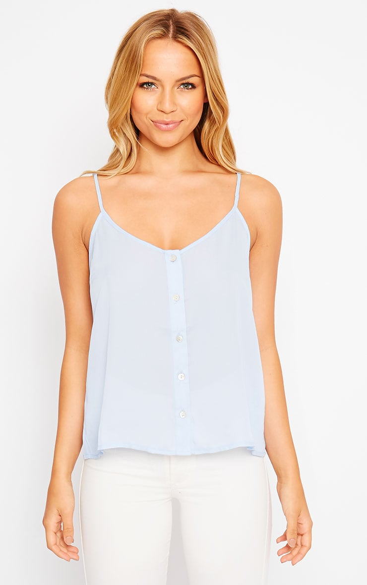 Mara Powder Blue Button Up Cami 4