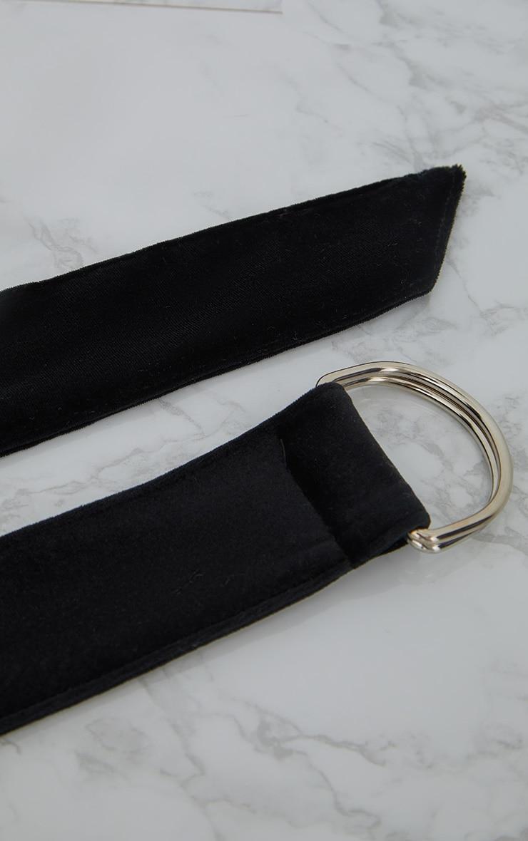 Black Velvet Hoop Fasten Belt 5