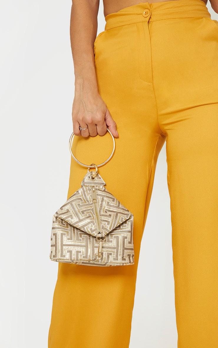 Gold Fabric Geo Grab Bag 1