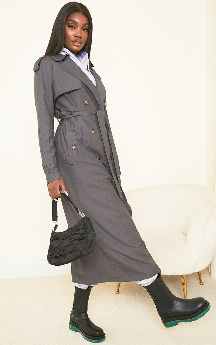 Tall Grey Oversized Trench 3