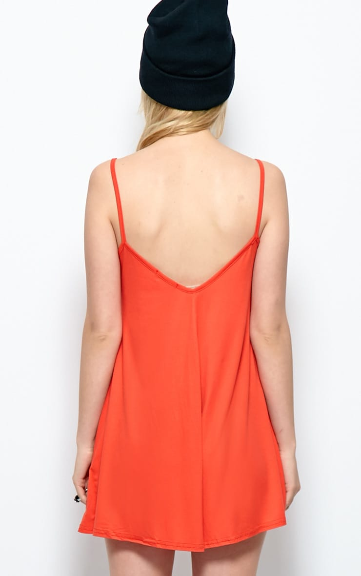 Isabel Poppy Red Strappy Swing Playsuit 2