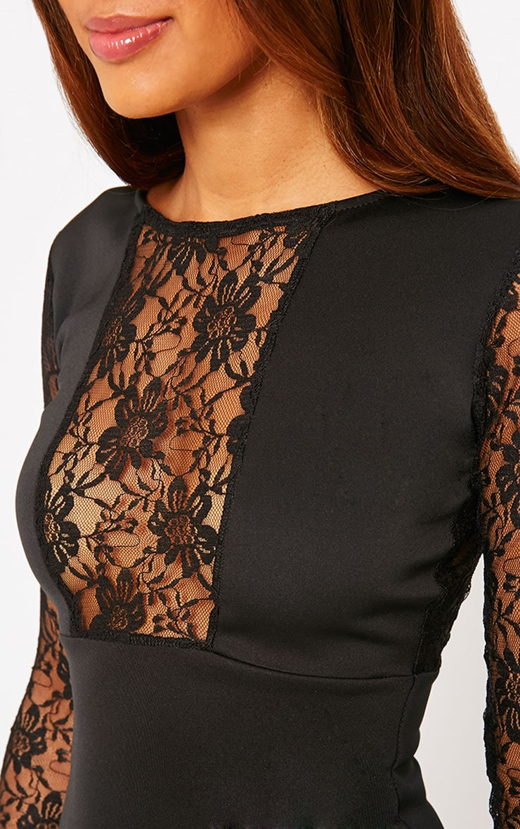 Perla Black Lace Insert Dress 5