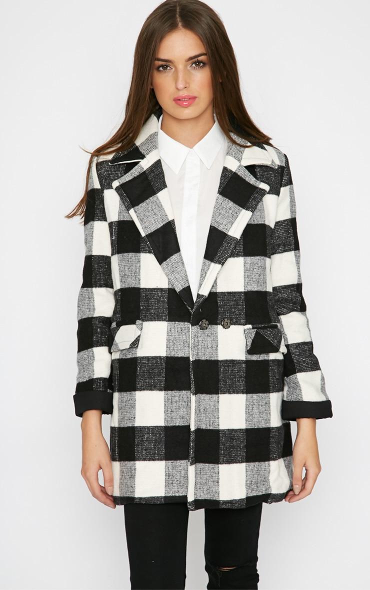 Rama Monochrome Checked Coat  5