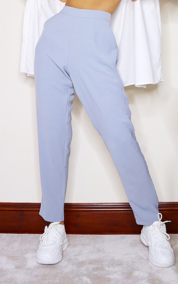 Dusty Blue Tailored Pants 2