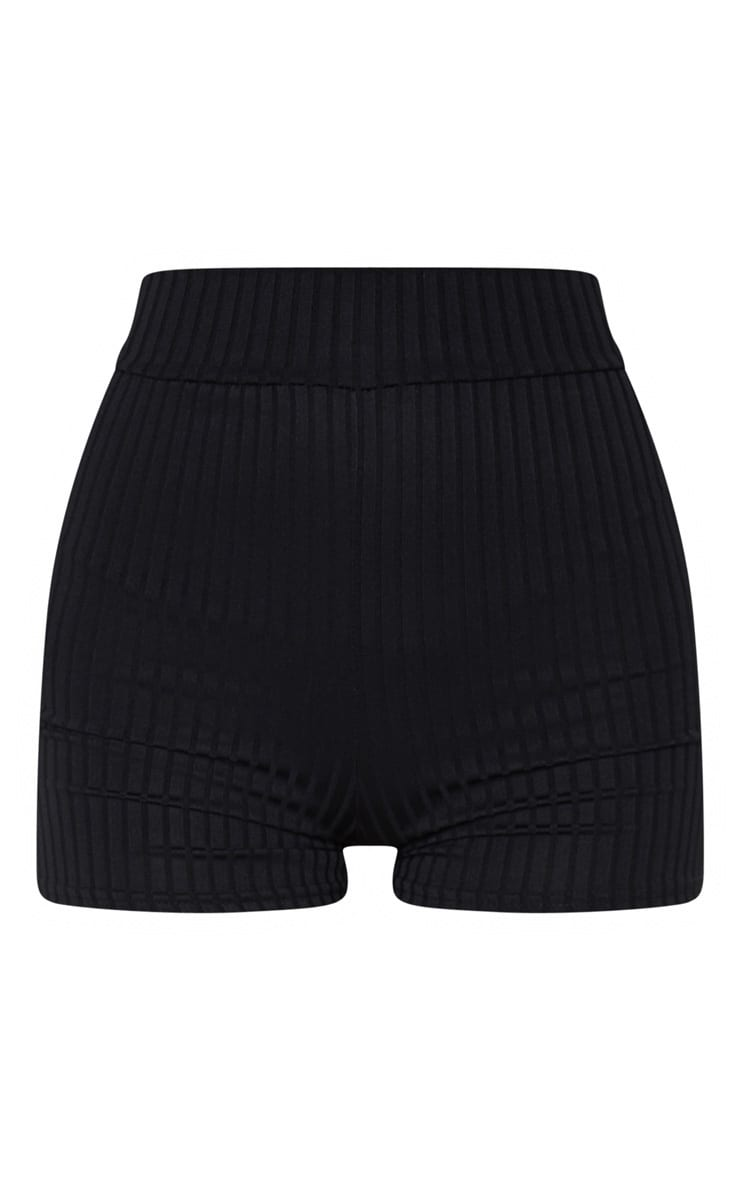Janice Black Ribbed Shorts 6