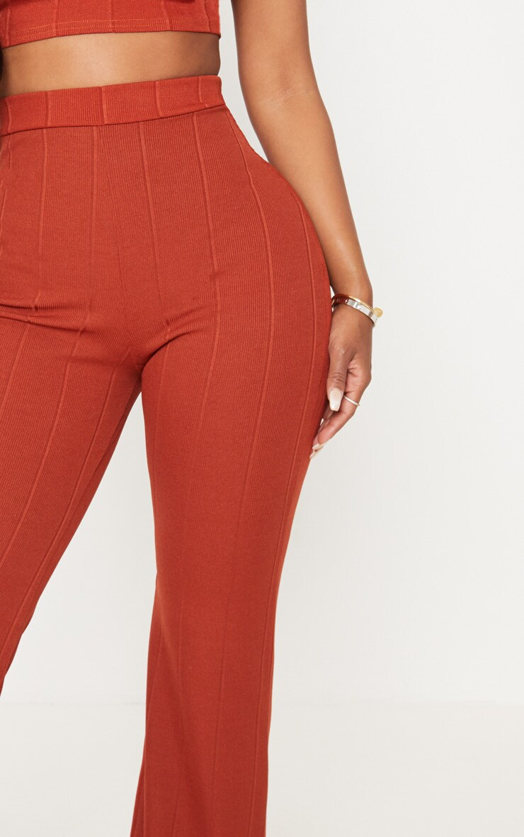 Shape Brown Bandage Wide Leg Trousers 5