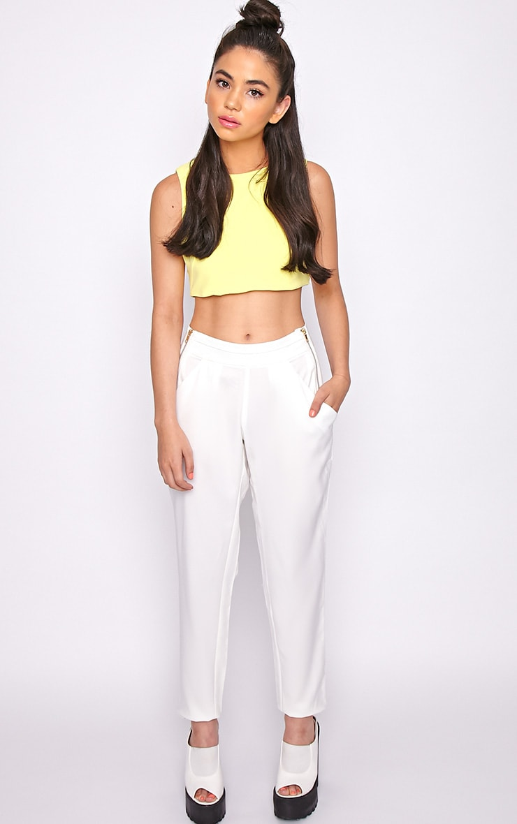 Breanna White Tailored Linen Trousers 5
