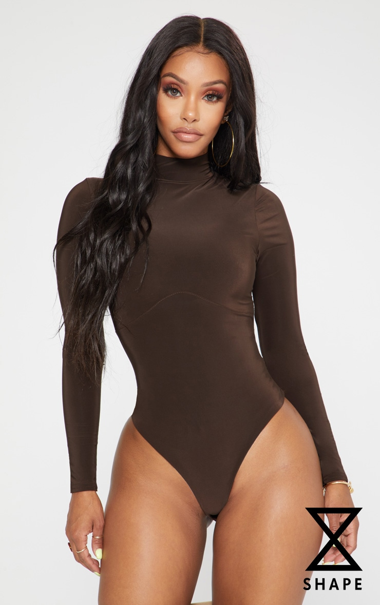 Shape Chocolate Corset Seam Detail Bodysuit 1