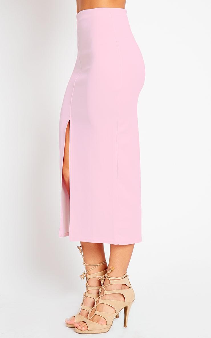 Kaja Baby Pink Scuba Split Skirt 4
