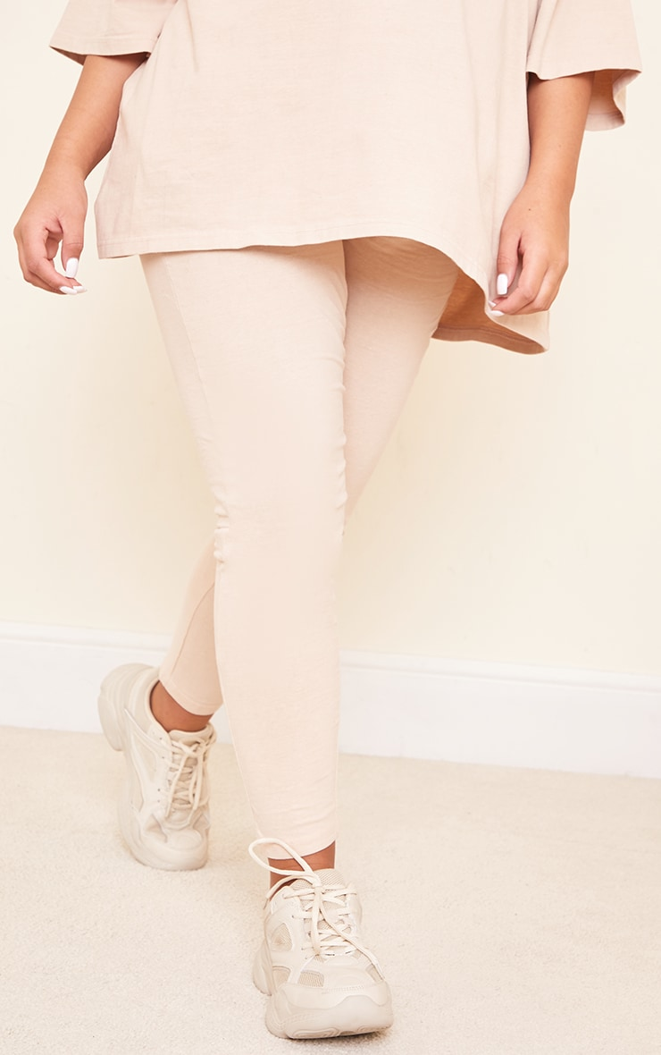 Maternity Stone Bump Support Washed Cotton Leggings 2