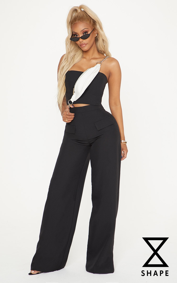 Shape Black Cargo Wide Leg Trouser