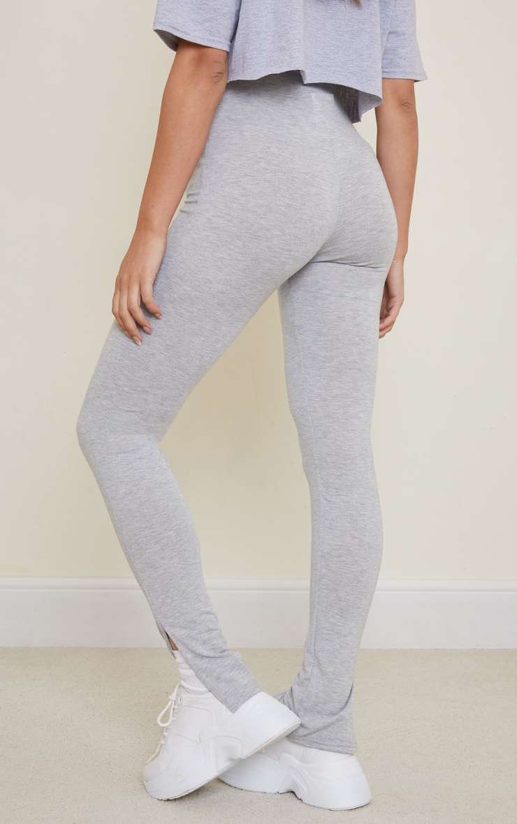 Maternity Grey Basic Split Hem Leggings 3