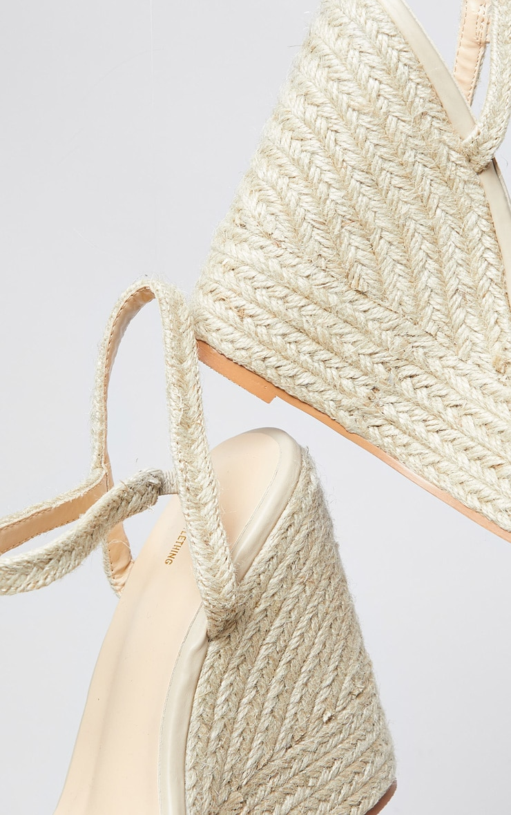 Natural Espadrille Wedges 3