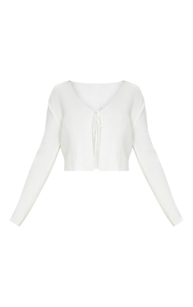 Ivory Tie Front Cardigan 3