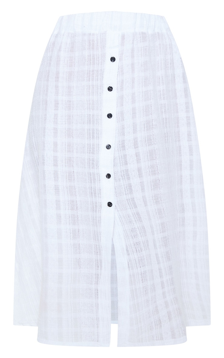 White Button Up Beach Skirt 3