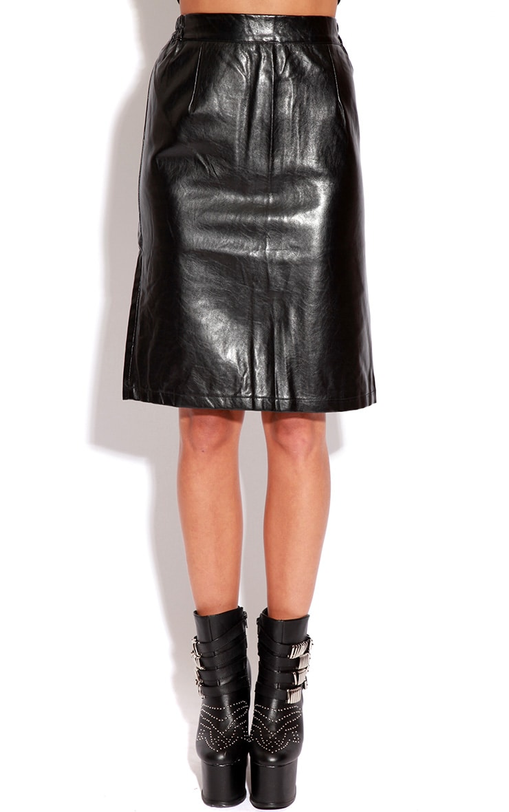 Aletta Leather Midi Skirt 3