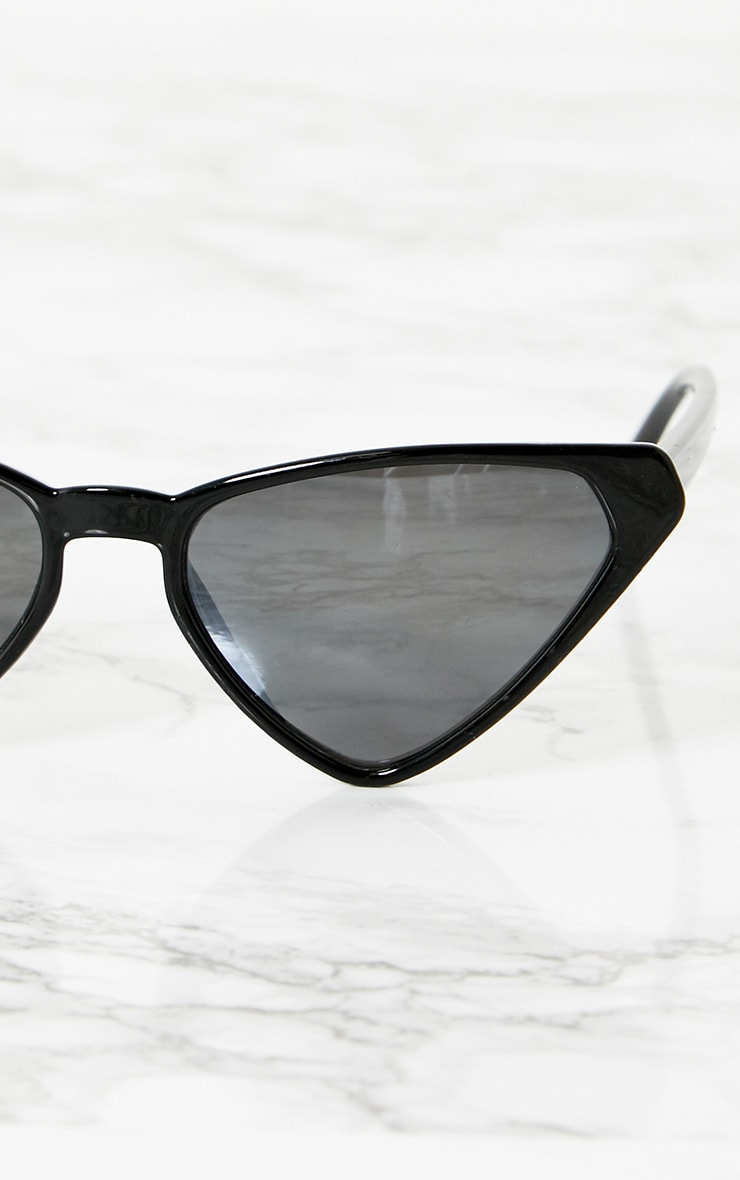 Black Wide Triangle Sunglasses 3