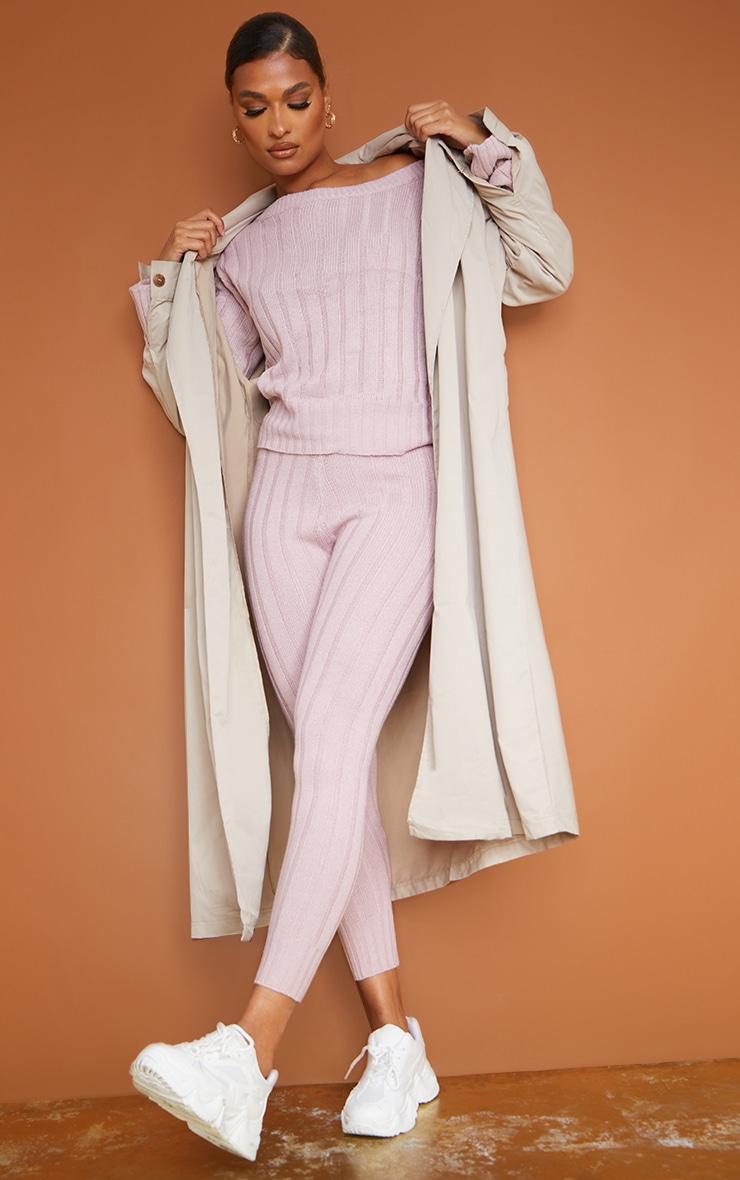 Rose Bardot Sweater And Legging Lounge Set 1