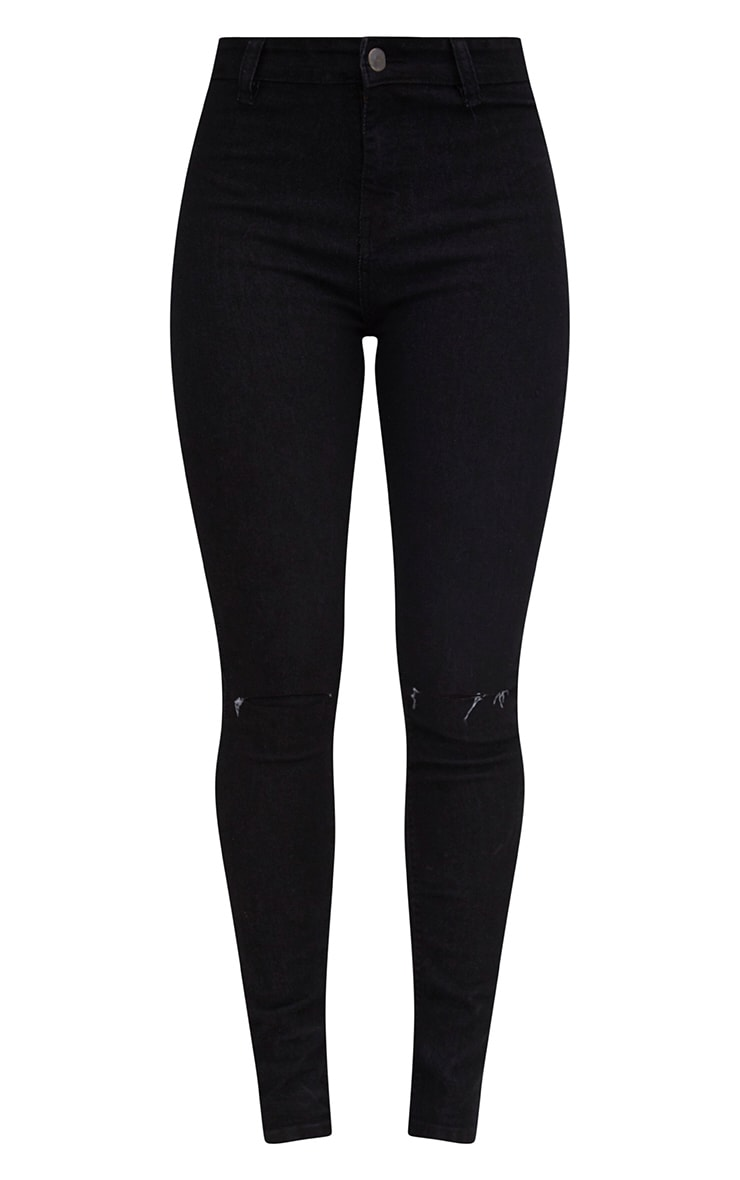 Black Knee Rip Disco Skinny Jean 3